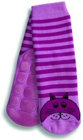 Country Kids Big Girls' Non-Skid Animal Slipper Socks Kitty Cat, Pack of 1, Fits 6-8 Years