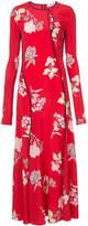 Diane von Furstenberg paneled bias floor length dress
