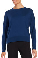 Eileen Fisher Solid Cashmere Blend Pullover Sweater