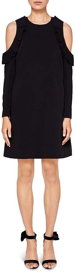 Ted Baker Siiara Ruffled Cold-Shoulder Dress