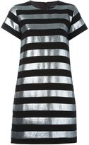 Marc by Marc Jacobs striped T-shirt dress - women - Cotton/Polyester/Metallic Fibre - 8