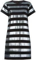 Marc by Marc Jacobs striped T-shirt dress - women - Polyester/Cotton/Metallic Fibre - 8