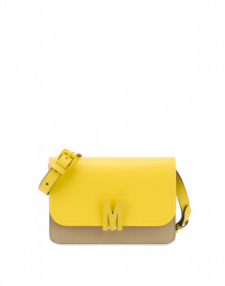 Moschino M Bicolor Shoulder Bag Woman Yellow Size U It - (one Size Us)