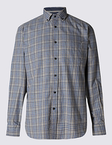 Blue Harbour Pure Cotton Tailored Fit Long Sleeve Shirt