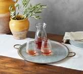 Pottery Barn Galvanized Tray with Copper Rim - Medium