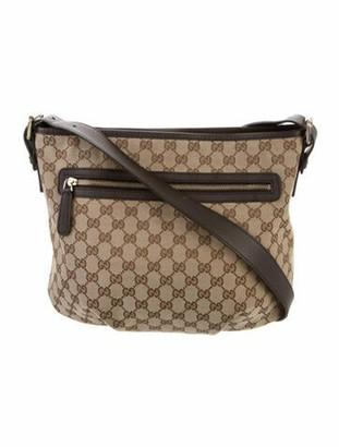 Gucci GG Canvas Messenger Bag Gold