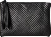 Jessica McClintock Gigi Quilted Pouch Clutch Handbags
