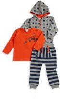 Petit Lem Boy's Three-Piece Hoodie, Tee & Pants Set