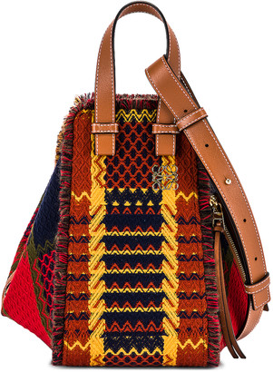 Loewe Hammock Tartan Small Bag in Red | FWRD