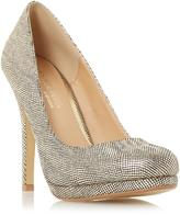 Head Over Heels by Dune ANDREA - GOLD Round Toe Heeled Platform Pump
