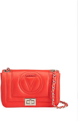 Mario Valentino Valentino By Beatriz Sauvage Leather Logo Shoulder Bag