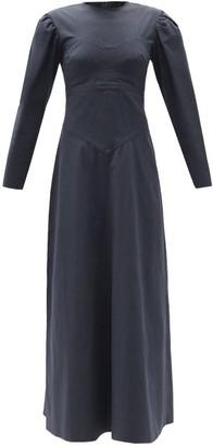 Isabel Marant Taylin Panelled Cotton Maxi Dress - Black