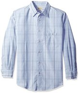 Haggar Men's Long Sleeve Sueded Effect Microfiber Woven Shirt