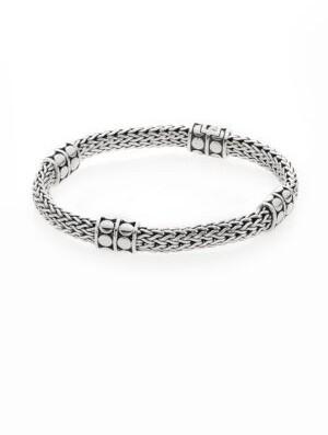 John Hardy Dot Four-Station Sterling Silver Chain Bracelet