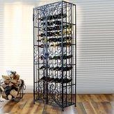 Mesa Brand & Scroll 96-Bottle Wine Rack in Antique Black