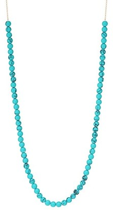 ginette_ny Maria18K Rose Gold & Mini Turquoise Beaded Collar Necklace