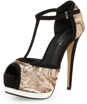 Timeless shoes Timeless nude sequin sandal