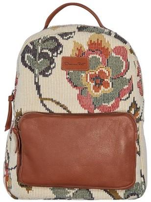 Oscar de la Renta Floral Wool Jacquard Backpack