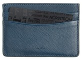 A.P.C. Men's Andre Leather Card Case - Blue