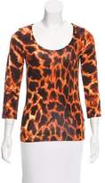 Just Cavalli Printed Three-Quarter Sleeve Top