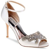 Badgley Mischka Barker Embellished Ankle Strap High Heel Sandals