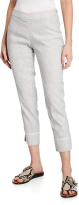 120% Lino Stretch Linen/Cotton Capri Pants