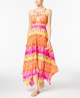 INC International Concepts Petite Printed Embellished Handkerchief-Hem Maxi Dress, Created for Macy's