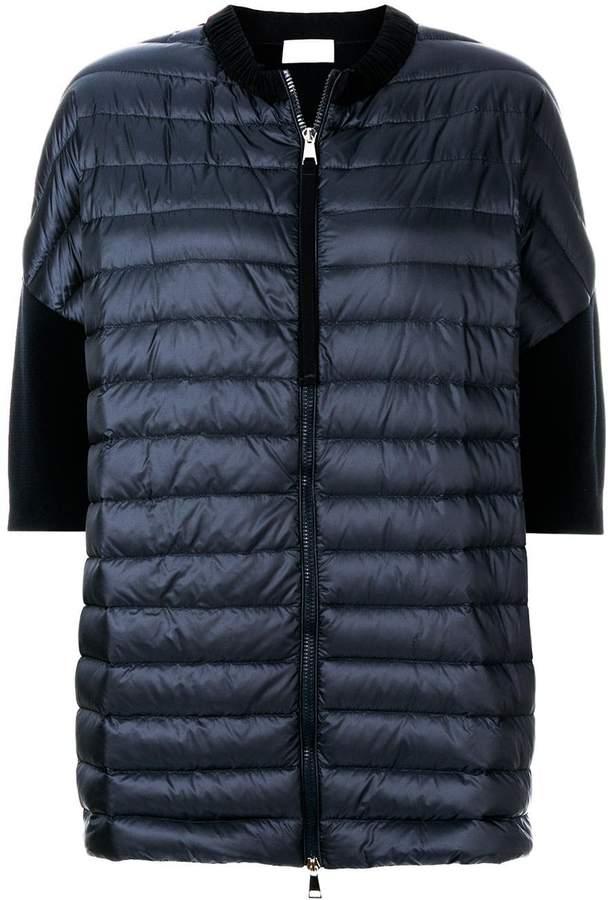 Moncler short sleeve padded front cardigan