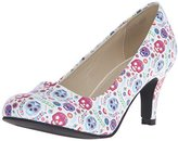T.U.K. Women's Sugar Skull Print Dress Pump