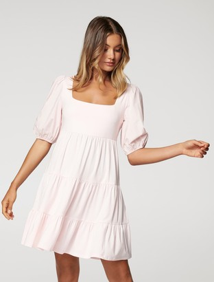 Forever New Zara Babydoll Mini Dress - Pink Oyster - 10