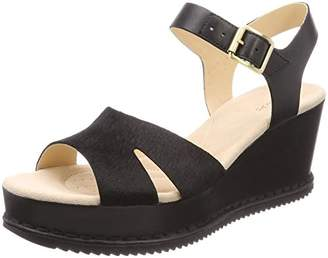 Clarks Women's Akilah Eden Ankle Strap Sandals, Black Leather