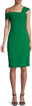 Vince Camuto Asymmetric Neck Sheath Dress