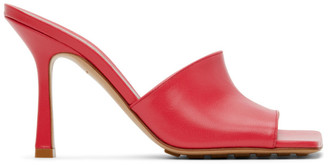 Bottega Veneta Pink Stretch Heeled Sandals