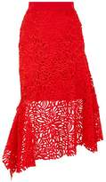 Milly Charlotte Lace Midi Skirt