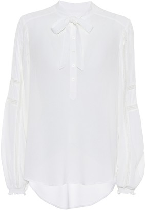 Veronica Beard Thayer crApe blouse