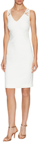 Badgley Mischka Lattice Back Strap Sheath Dress