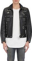 R 13 Men's Leather Dominator Jacket-BLACK