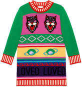 Gucci Children's intarsia wool sweater dress