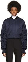 Ellery Navy Cropped Minnie Bomber Jacket