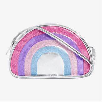 Joe Fresh Kid Girls' Rainbow Crossbody Bag, Silver (Size O/S)