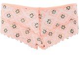 Charlotte Russe Sheer Printed Lace Boyshort Panties