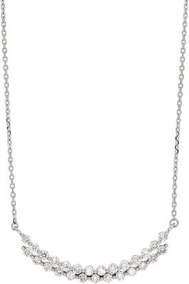 Bony Levy Audrey Raised Diamond Curve Pendant Necklace