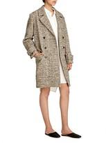 Halston Oversized Tweed Coat
