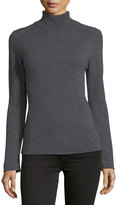 Neiman Marcus Cashmere Basic Turtleneck Sweater, Gray