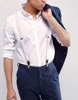 Asos Wedding Suspenders In Pink