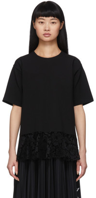 Valentino Black Lace T-Shirt Blouse