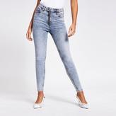 River Island Blue acid wash Hailey high rise jeans