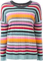 N.Peal cashmere striped jumper - women - Cashmere - L