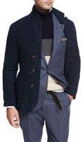 Brunello Cucinelli Donegal Knit Sweater Jacket