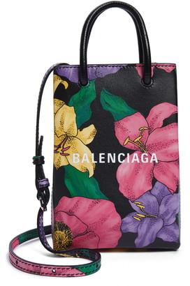 Balenciaga Leather Crossbody Phone Case
